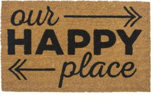 Happy Place Non Slip Coir Door Mats