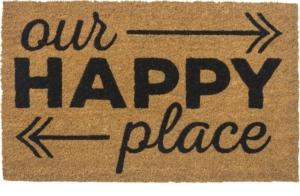 Happy Place Non Slip Coir Door Mats