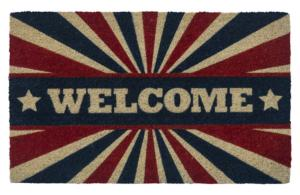 Patriotic Welcome Non Slip Coir Door Mats