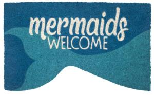 Mermaids Welcome Slip Resistant Coir Door Mats