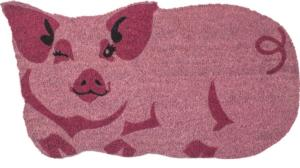 Year of the Pig Slip Resistant Coir Door Mats