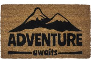 Adventure Awaits Slip Resistant Coir Door Mats