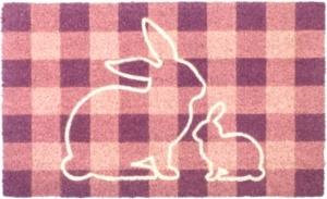 Bunny Plaid Coir Doormat