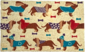 Dressed-Up Hounds Coir Doormat