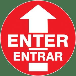 """""""Enter-Entrar"""" Floor Decals"""
