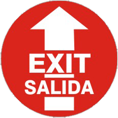 """""""Exit-Salida"""" Floor Decals"""