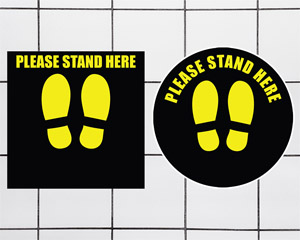Please Stand Here Repositionable Mats