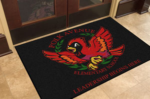Premium Carpet School Logo Mats