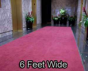 6 Feet Wide Deluxe Carpet Entrance Mats