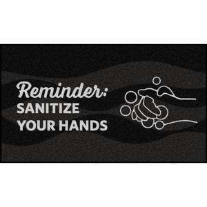 Sanitize Your Hands Reminder Floor Mats
