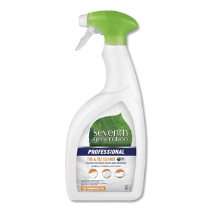 Seventh Generation® Professional Tub and Tile Cleaner, 32oz Spray Bottle, 8/Case