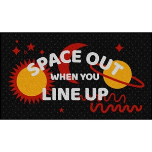 Space Out in a Line Floor Mats