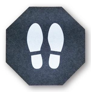 Stick-and-Stand Anti-Microbial Floor Mats
