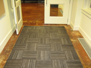 Recycled Rubber Tire Tiles Are Entrance