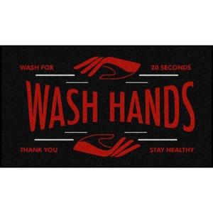 Wash Your Hands Floor Mats