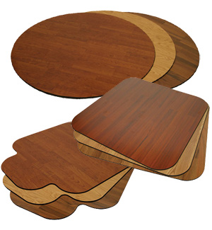 Premium Wood Chair Mats