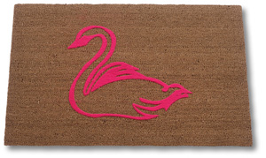 image about Printable Floor Mats named Flocked Cocoa Symbol Mats