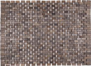 "Roosevelt Exotic Wood Mat - Black 18"" x 30"""