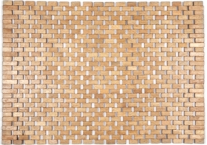 "Roosevelt Exotic Wood Mat - Brown 18"" x 30"""