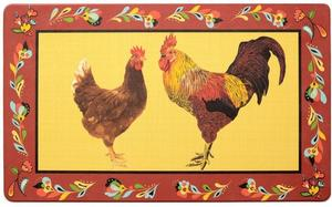 Kitchen Anti-Fatigue Mats: Red Rooster Yellow Mat